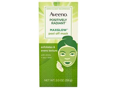 AVEENO Positively Radiant MaxGlow Peel Off Exfoliating Face Mask 2 oz - Image 1