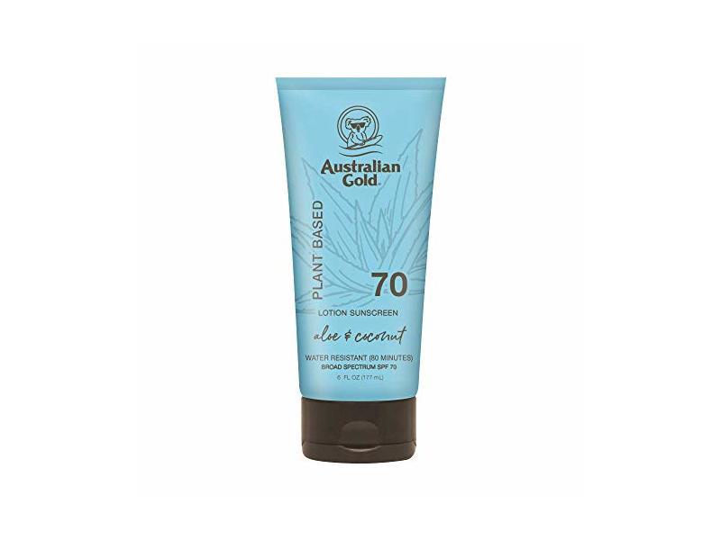 Australian Gold Sunscreen Lotion, Aloe & Coconut, SPF 70, 6 fl oz / 177 mL