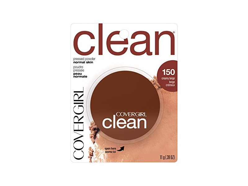 Covergirl Clean Pressed Powder, Creamy Beige (150), 11g
