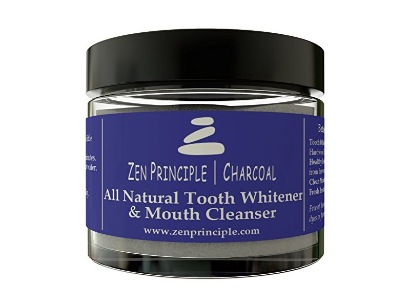 Zen Principle Natural Charcoal Tooth Whitening Powder & Mouth Cleanser