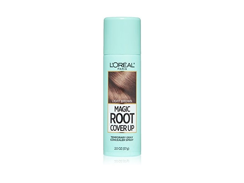 L'Oreal Paris Magic Root Cover Up Gray Concealer Spray, Light Brown, 2 oz.