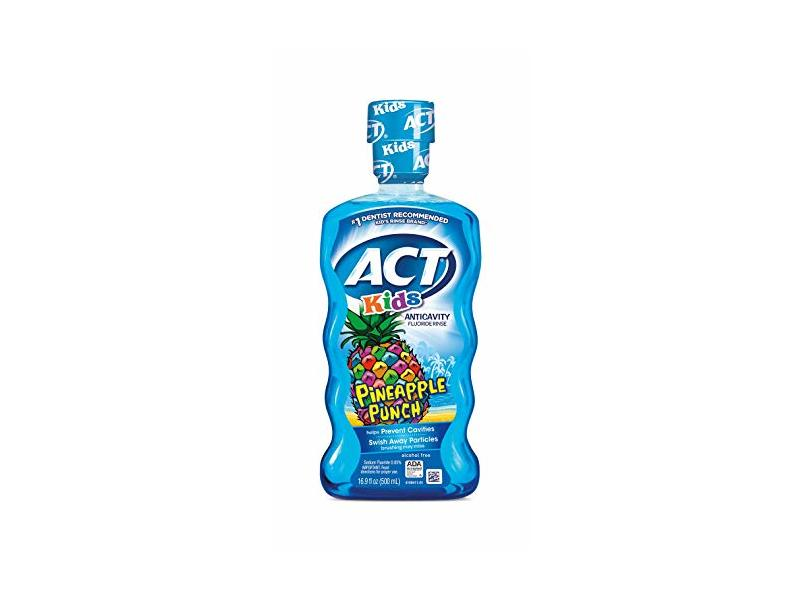 ACT Kids Anticavity Fluoride Rinse, Pineapple Punch, 16.9 Ounce (Pack of 3)