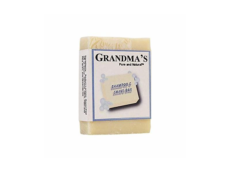 Grandma's Pure & Natural Shampoo & Shave Bar, 4 oz