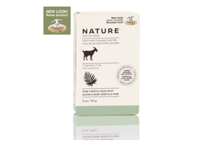 Nature by Canus Pure Vegetal Base Soap with Fresh Canadian Goat Milk, Fragrance-Free, 5 oz