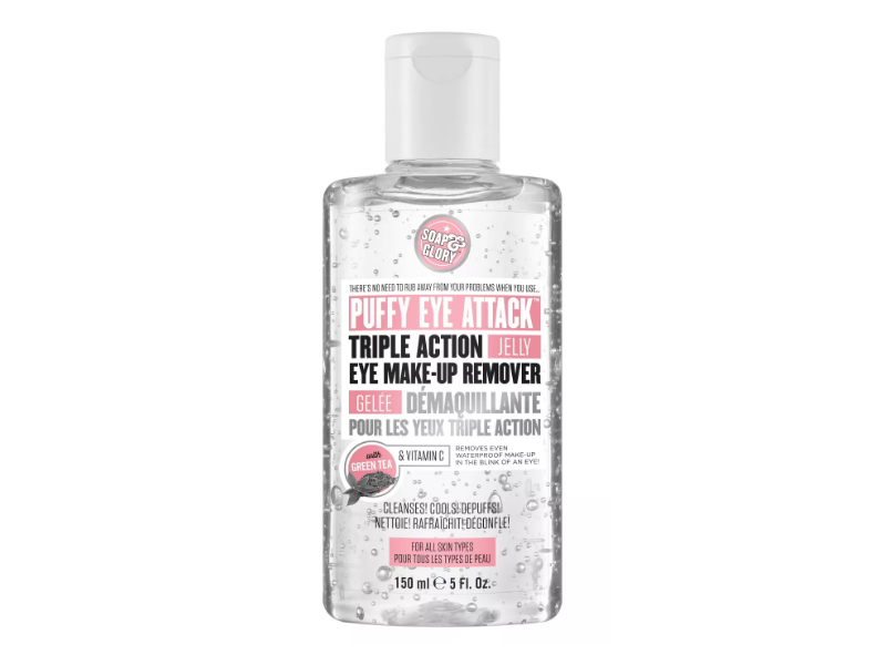 Soap & Glory Puffy Eye Attack Triple Action Jelly Eye Make-Up Remover, 5 fl oz/150 ml