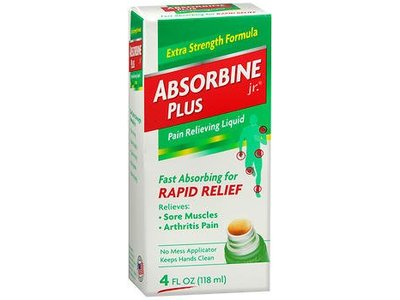 Absorbine Jr. Plus Pain Relieving Liquid Rapid Relief, 4 fl oz/118 mL