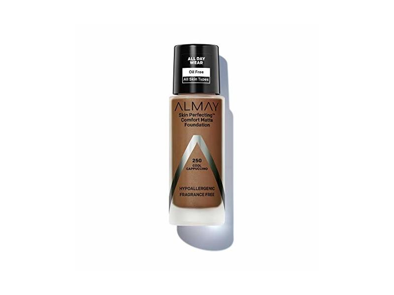 Almay Skin Perfecting Comfort Matte Foundation, Cool Cappuccino, 1 fl oz/30 mL