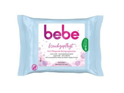 Bebe 5in1 Facial Wipes, 25 ct