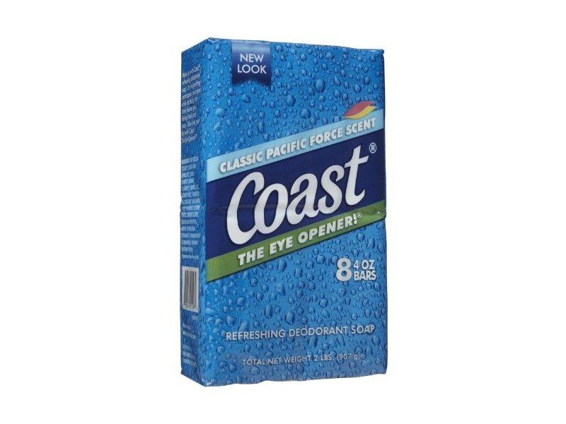 Coast 8-Bar Soap Pacific Force / Original 4 Ounce
