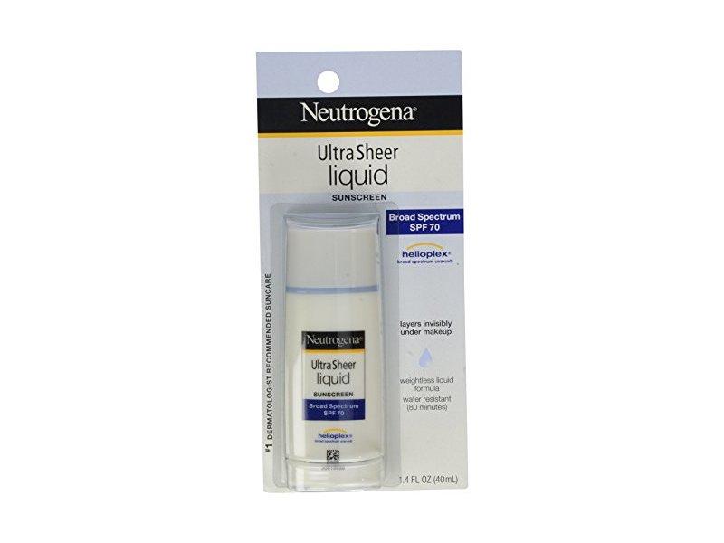 Neutrogena Ultra Sheer Sunblock Liquid, SPF 70, 1.4 fl oz