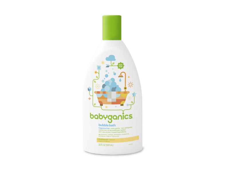 Babyganics Bubble Bath, Fragrance Free, 20 oz