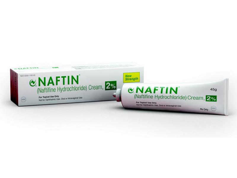 Naftin Naftifine Hydrochloride Cream 2% (RX), 45 g, Merz Pharmaceuticals LLC