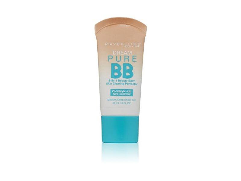 Maybelline New York Dream Pure BB Cream Skin Clearing Perfector, Medium/Deep, 1 Fluid Ounce