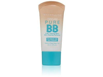 Maybelline New York Dream Pure BB Cream Skin Clearing Perfector, Medium/Deep, 1 Fluid Ounce - Image 1