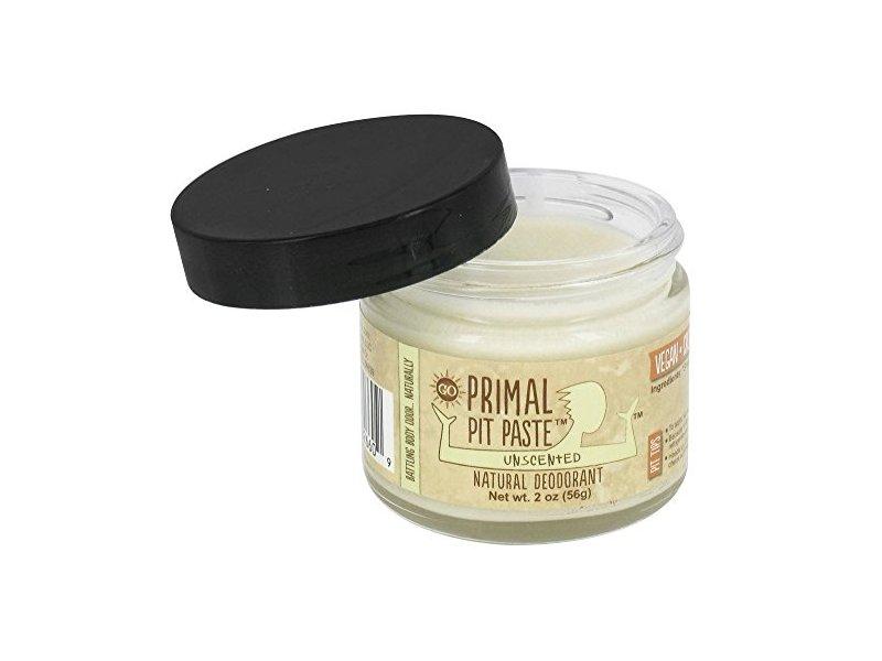 Primal Pit Paste Natural Deodorant, Unscented, 2 oz