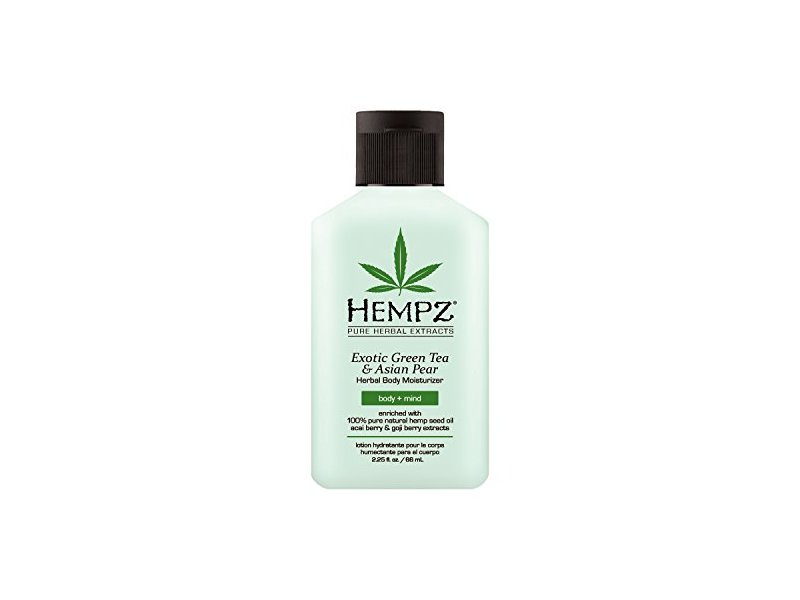 Hempz Exotic Herbal Body Moisturizer, Green Tea and Asian Pear, 2.25 Fluid Ounce