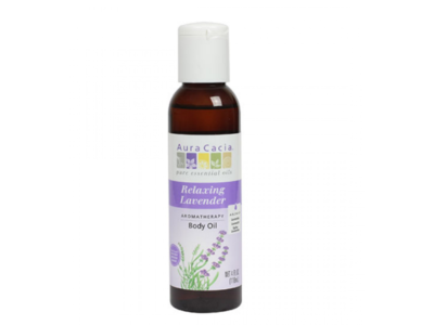 Aura Cacia Relaxing Lavender Body Oil, 4 fl oz