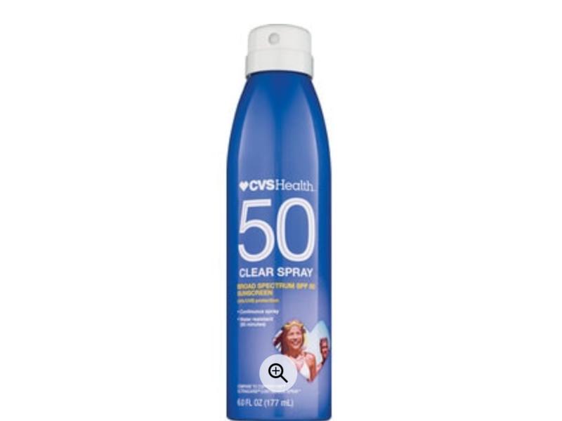CVS Health Clear Broad Spectrum Sunscreen Spray SPF 50