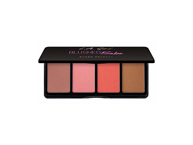 L.A. Girl Fanatic Blush Palette, Blushed Babe Pinks, 1 oz