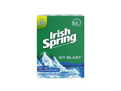 Irish Spring Icyblast Cool Refreshment Deodorant Soap Unisex Soap, 8 Count
