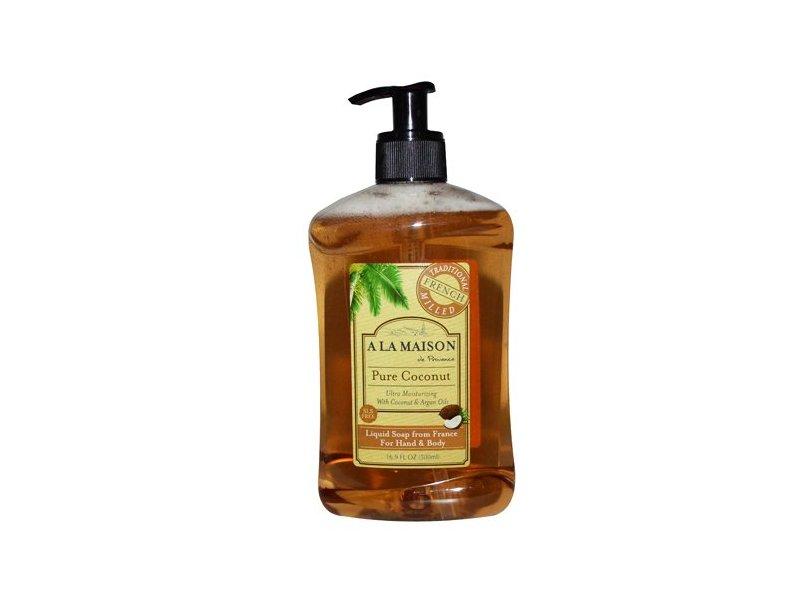 A La Maison Liquid Hand & Body Soap, Pure Coconut, 16.9 fl oz