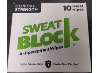 Sweatblock Antiperspirant Wipes, Clinical Strength, 10 Count - Image 3