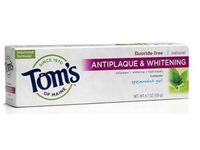 Tom's Of Maine Fluoride-Free Antiplaque & Whitening Toothpaste, Spearmint Gel, 4.7 oz - Image 2