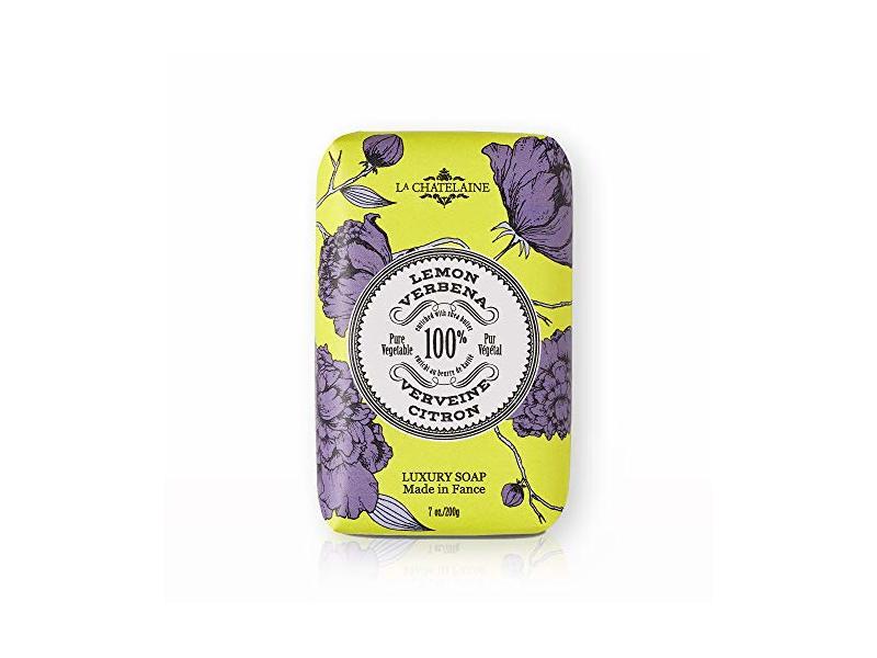 La Chatelaine Luxury Bar Soap, Lemon Verbena, 7 oz