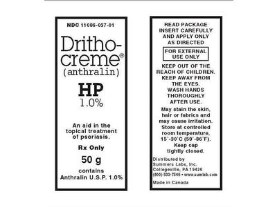 Dritho-Creme (Anthralin 1%) (RX) 50 Grams, Summers Labs, Inc.
