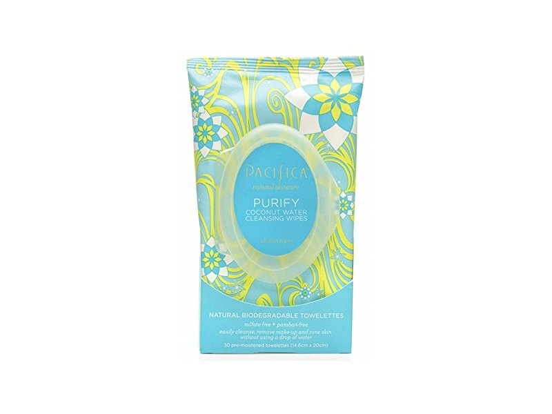 Pacifica Purify Coconut Water Cleansing Wipes, 30 count