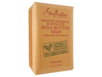 SheaMoisture Manuka Honey & Mafura Oil Shea Butter Soap, 8 oz - Image 1