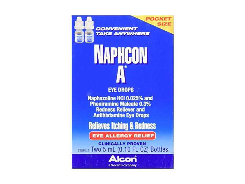 Alcon Naphcon-A Eye Drops, Twin Pack, 0.16 fl oz / 5 mL Each