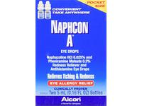Alcon Naphcon-A Eye Drops, Twin Pack, 0.16 fl oz / 5 mL Each - Image 2
