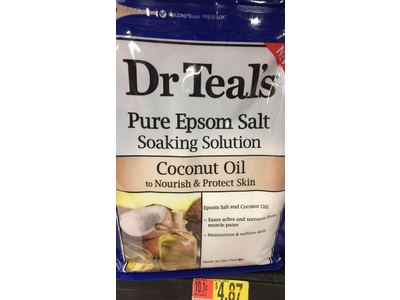 Dr Teal's Pure Epsom Salt Soaking Solution, Coconut Oil, 3 lbs - Image 3