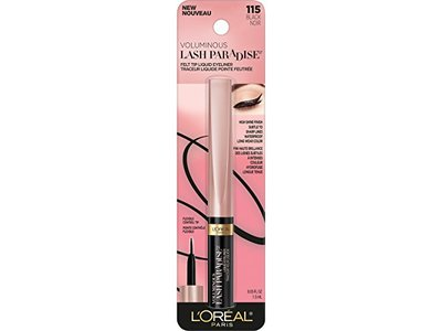 L'Oreal Paris Cosmetics Voluminous Lash Paradise Liquid Eyeliner, Black, 0.05 Fluid Ounce - Image 4