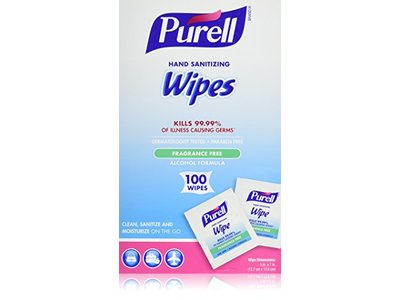 Purell Hand Sanitizing Wipes, Fragrance Free, 100 ct - Image 1