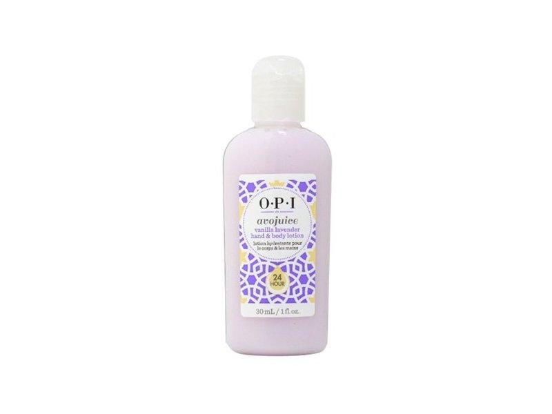 OPI AvoJuice Hand and Body Lotion, Vanilla Lavender, 30ml/1 fl. oz.