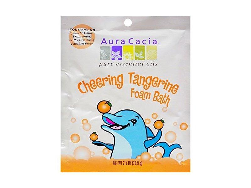Aura Cacia Cheering Tangerine Foam Bath, 2.5 oz