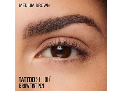 Maybelline TattooStudio Brow Tint Pen Makeup, Medium Brown, 0.037 fl. oz. - Image 13