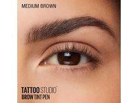 Maybelline TattooStudio Brow Tint Pen Makeup, Medium Brown, 0.037 fl. oz. - Image 13