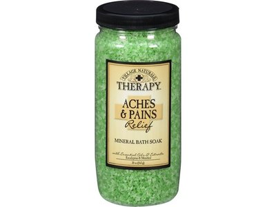Village Naturals Therapy Aches & Pains Mineral Bath Soak 20 oz