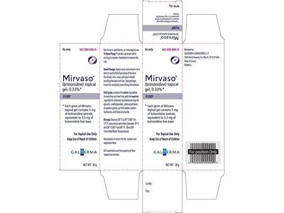 Mirvaso (brimonidine) Topical Gel, 0.33%, 30 g (RX)