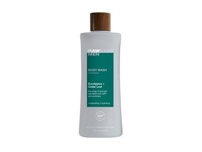 Raw Sugar Men Body Wash, Eucalyptus + Cedar Leaf, 25 fl oz/740 mL