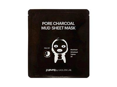 JJ Young Pore Charcoal Mud Sheet Mask - Enhances Skin Elasticity - 0.85 oz.