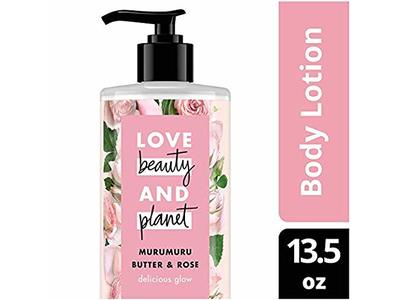 Love Beauty and Planet Murumuru Butter & Rose Body Lotion, Delicious Glow, 13.5 fl oz - Image 1