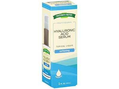 Natures Truth Professional Hyaluronic Acid Serum Softening Unsented, 1 Ounce