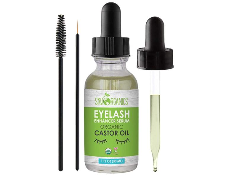 Sky Organics Eyelash Enhancer Serum Castor Oil, 1 fl oz