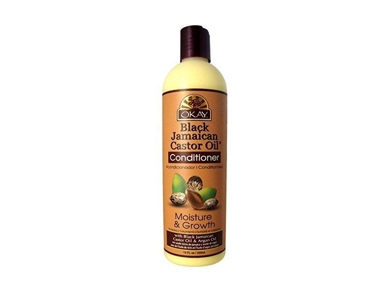 Okay Black Jamaican Castor Oil Conditioner, Moisture & Growth, 12 oz