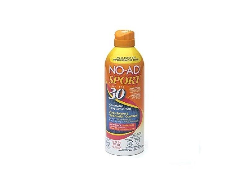 No-Ad SPF 30 Sport Spray, Size 10.Z