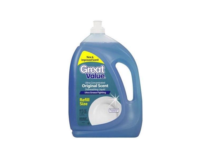 Great Value Ultra Concentrated Dishwashing Liquid, Original, Scent, 90 fl oz